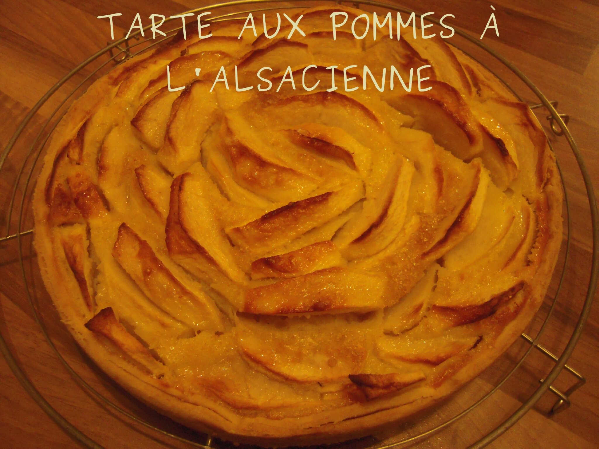 tarte aux pommes alsacienne flagrants delices by tambouillefamily. Black Bedroom Furniture Sets. Home Design Ideas
