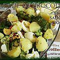 Salade de brocolis et sauce aioli