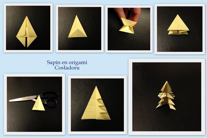 Sapin en origami1