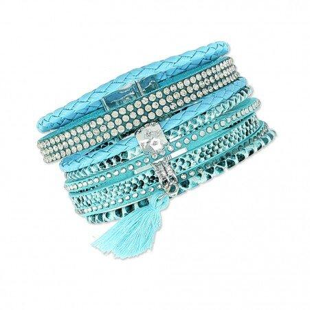bracelet-fantaisie-cuir-cristaux-clous-et-pampille-pompon-dania