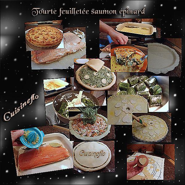 Tourte Feuilletée au Saumon et Épinard de Cuisineflo