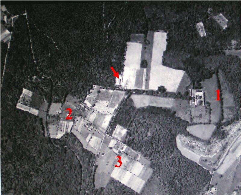 Vue aérienne de Borie-Bru en 1960