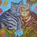 les chats de patrick - huile