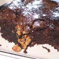 Brownies fourré au beurre de cacahuètes