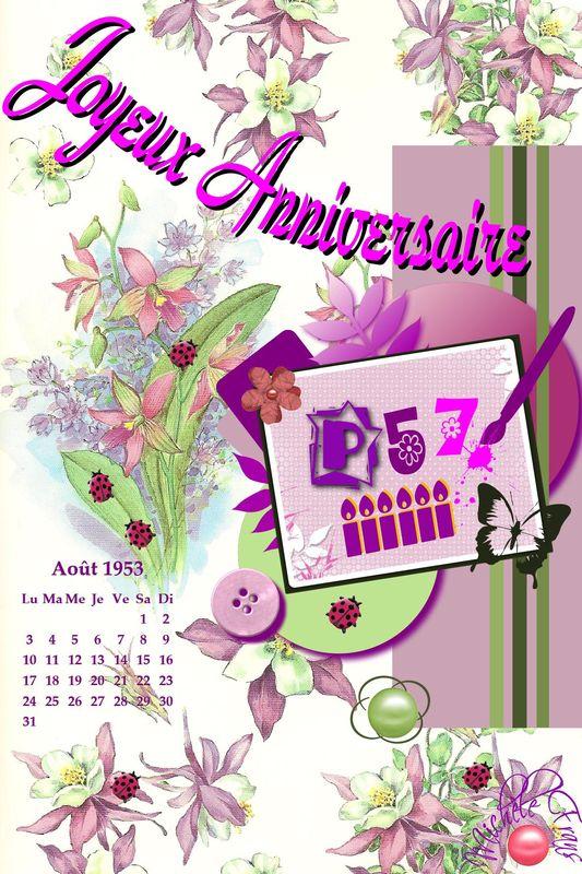 * voeux d'anniversaire pour P@sc@le