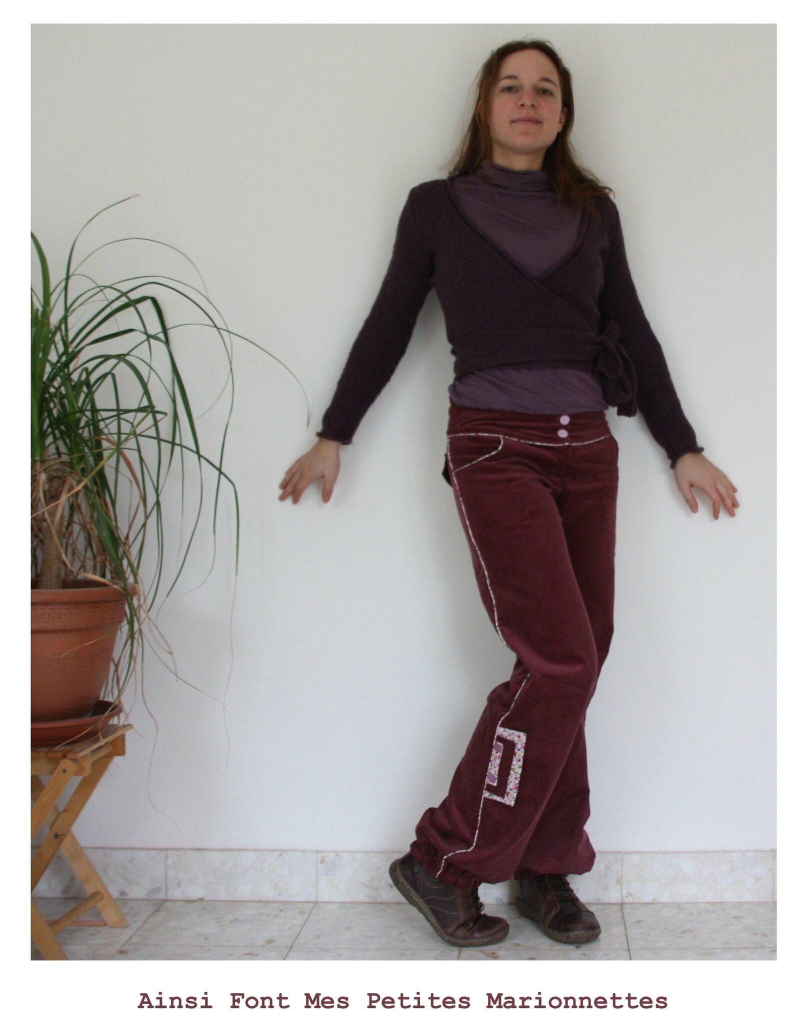 pantalon rose passepoil 1
