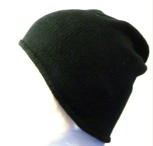 bonnet homme cachemire noir 2