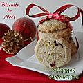 Biscuits de noël aux pistaches et canneberges, sans gluten