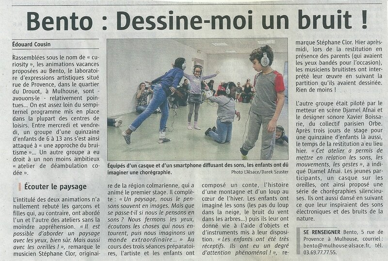 Quartier Drouot - Article journal L'Alsace