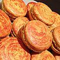 Macarons citron/safran