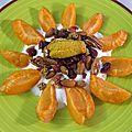 Dessert à l'assiette: abricot, mélange bien-être