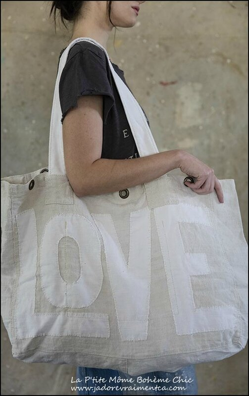 Specialty Bag 008 #1-European Linen Love Tote