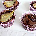 Petits fondants au chocolat et aux poires
