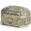 Octagonal silver and gilt casket, sri lanka, circa 1800
