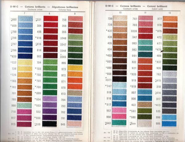 carte de fil mouliné & coton perlé002 dmc