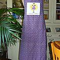 broderie de Solange B, couture du tablier de clairette