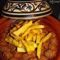Tajine boulettes/frites.
