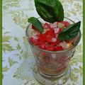 Tartare de thon rouge aux petits légumes