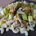 Coquillettes poulet, courgettes sans gluten