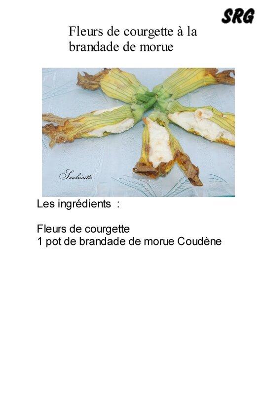 Fleurs de courgette à la brandade de morue (page 1)