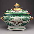 Covered tureen, early 19th century. chinese for the american market
