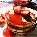 Les pancakes de rose bakery !