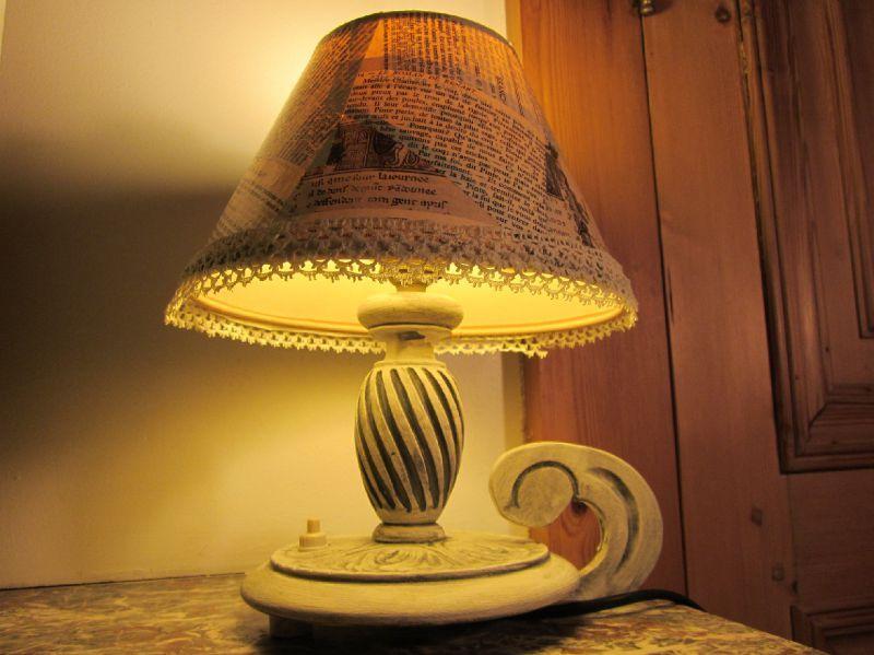 Id es clair es pour relooker des petites lampes ma bulle - Relooker un abat jour ...