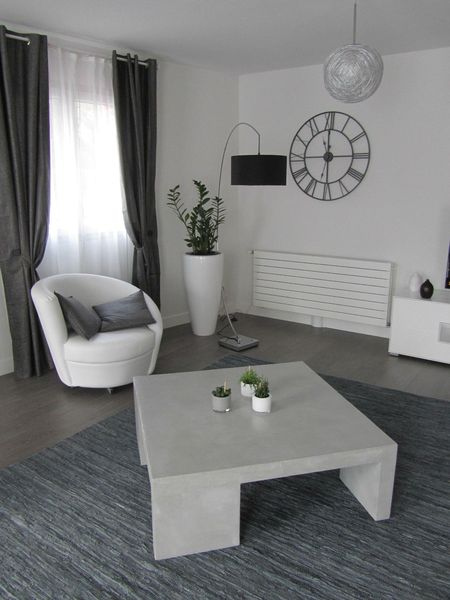 BETON CIRE -TABLE DE SALON