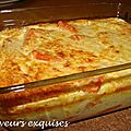 Gratin de potiron au comt et  la ricotta