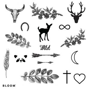 bloom planche-tattoo-wild