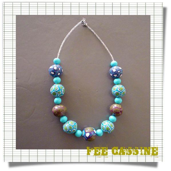 collier bleu vert 2