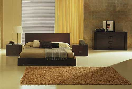 chambre design beige marron - Photo de chambres design - deco design