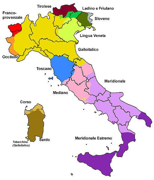 Promotion de la langue v hiculaire et r sistance des dialectes italiens la - La superficie de l italie ...