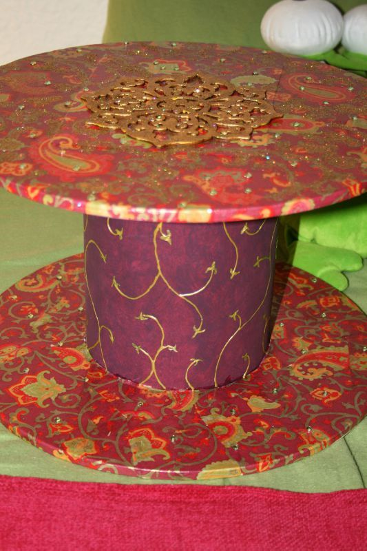 Table de chevet les cr ations du doudou for Decopatch meuble