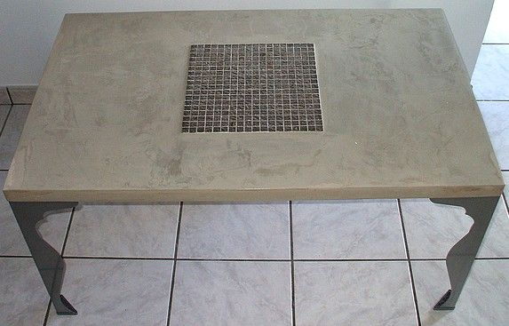 Ma table en béton ciré  1 air 2 déco