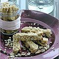 Cookies sticks aux amandes & chocolat blanc