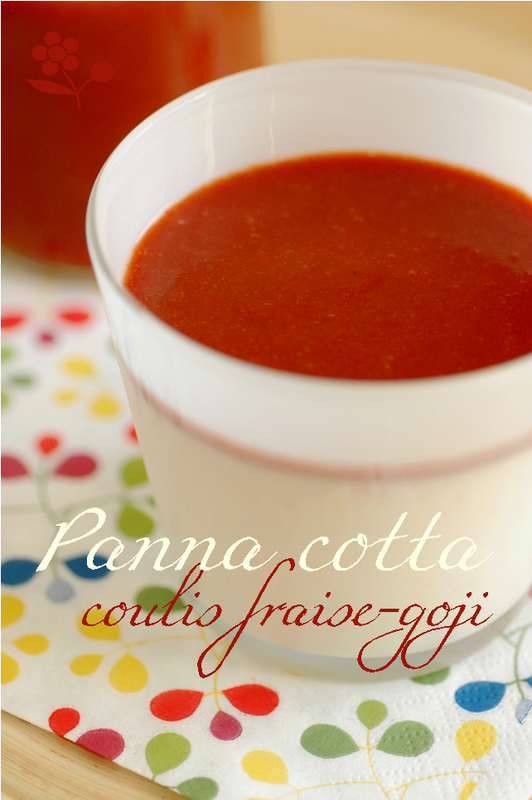 Panna cotta lait fermenté, coulis de goji_1