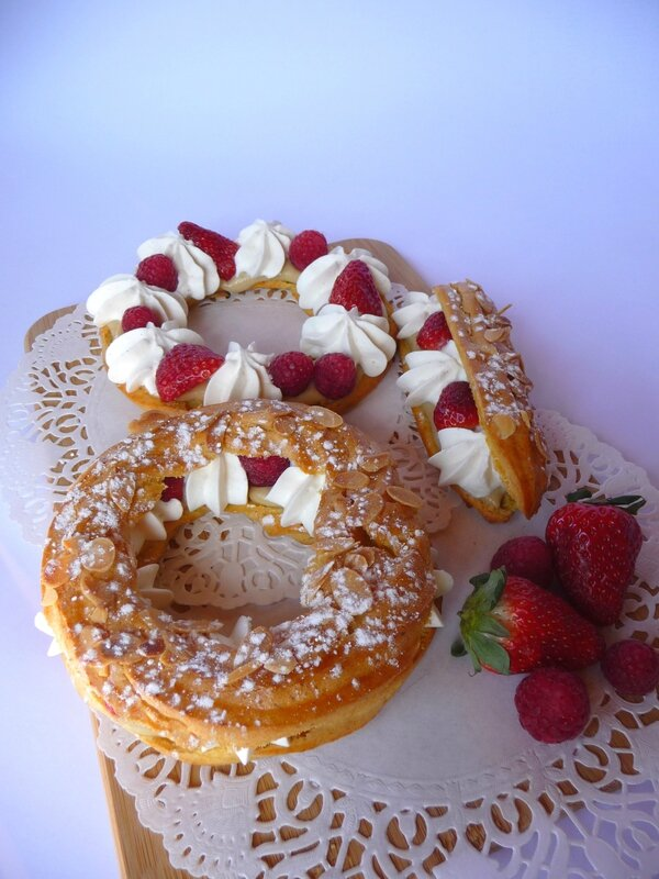 paris brest fraises framboises caneylle gourmandises. Black Bedroom Furniture Sets. Home Design Ideas