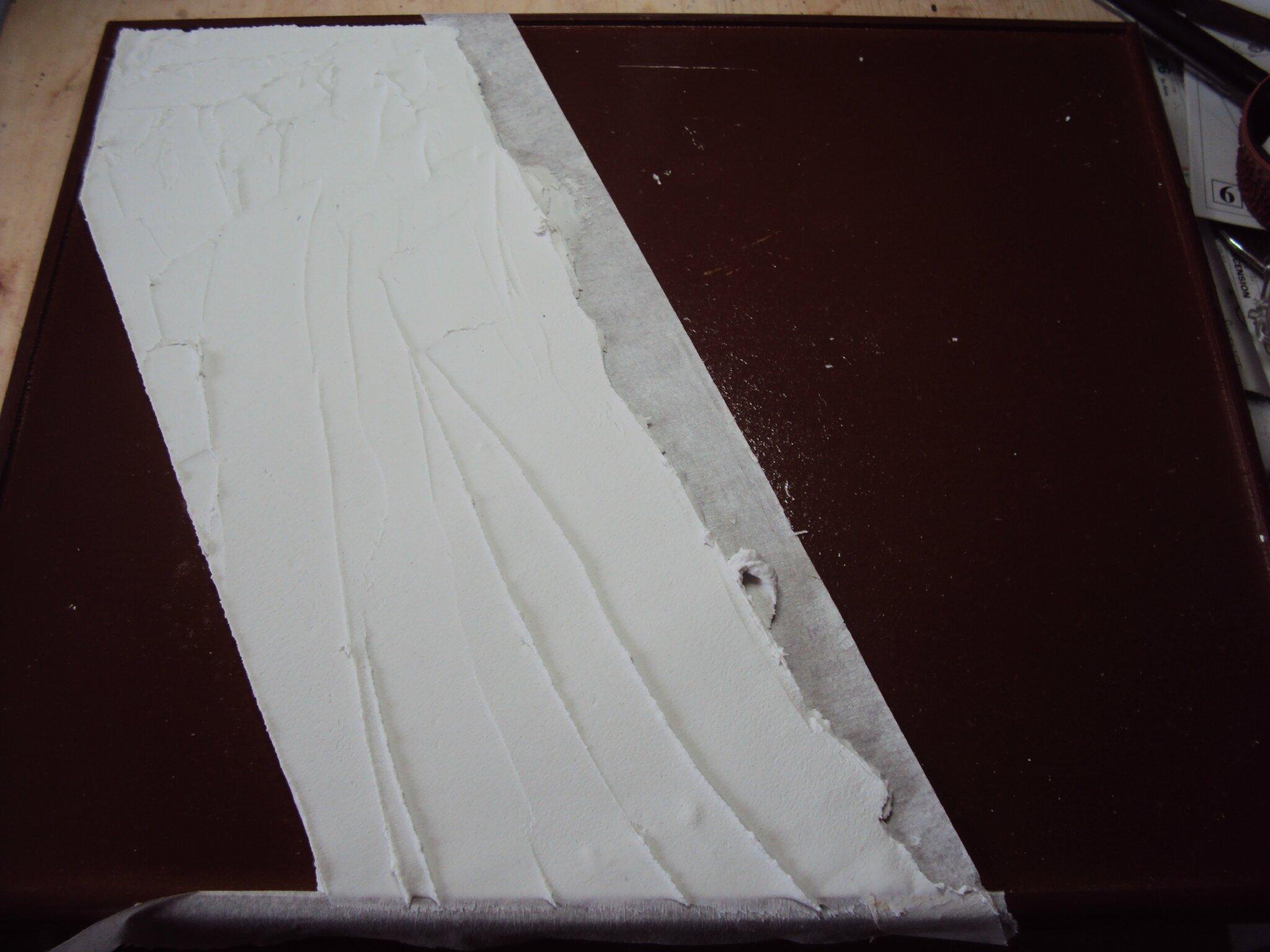09 d limiter le chemin l 39 aide de scotch peinture for Peinture a la spatule