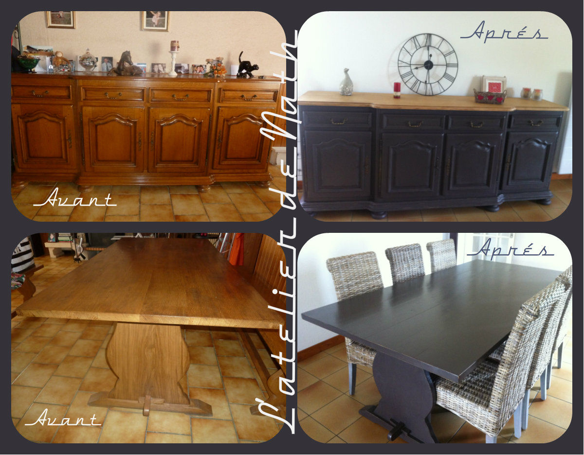 Buffet et table de salle manger photo de meubles for Decoration buffet salle a manger