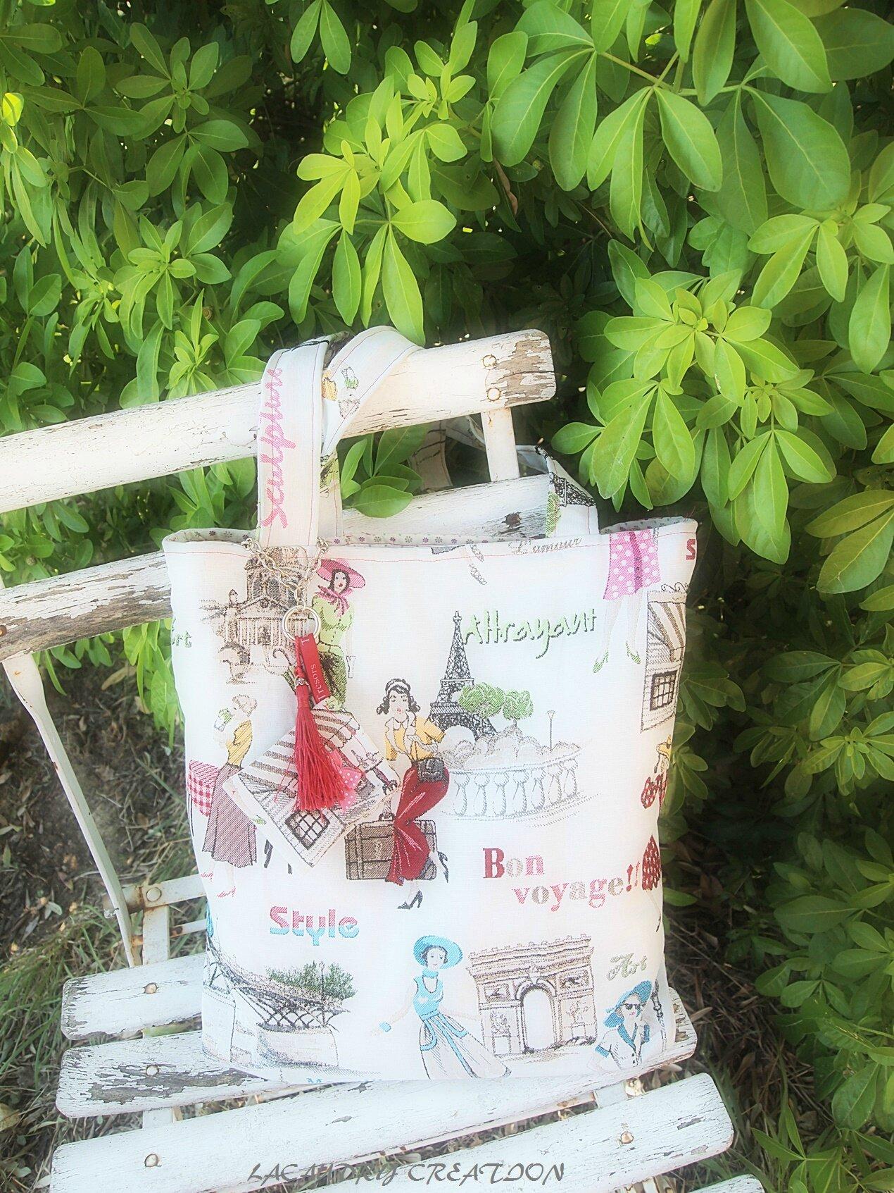 De retour....avec mes créations de l'été : des sacs cabas rien que pour moi