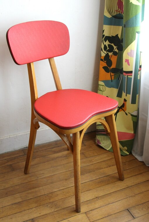 chaise-skai-rouge