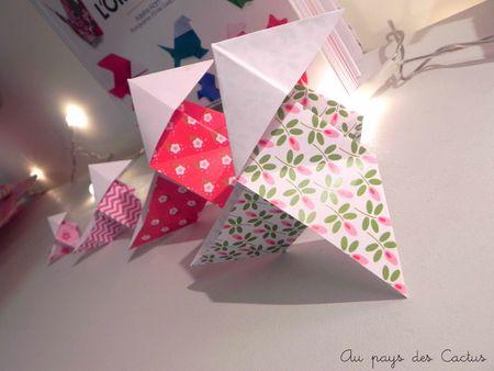Origami Adeline Klam cocotte papiers Fifi Mandirac Au pays des Cactus 5