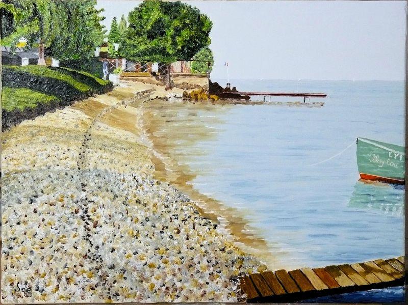 Plage sur le Lac Leman