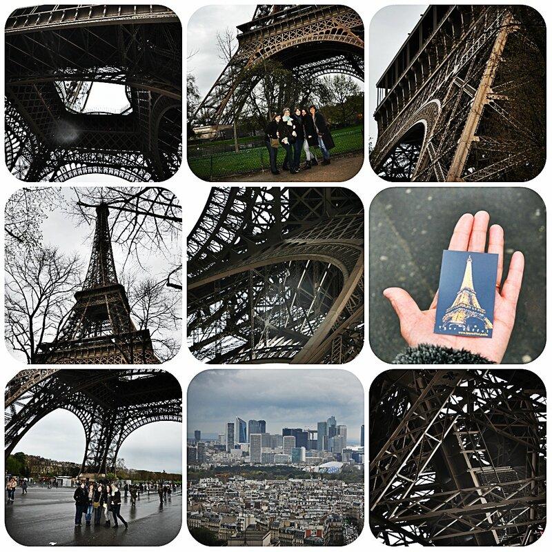 collage tour eiffel VS