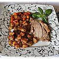 Rôti de porc sauteuse aux légumes d'été