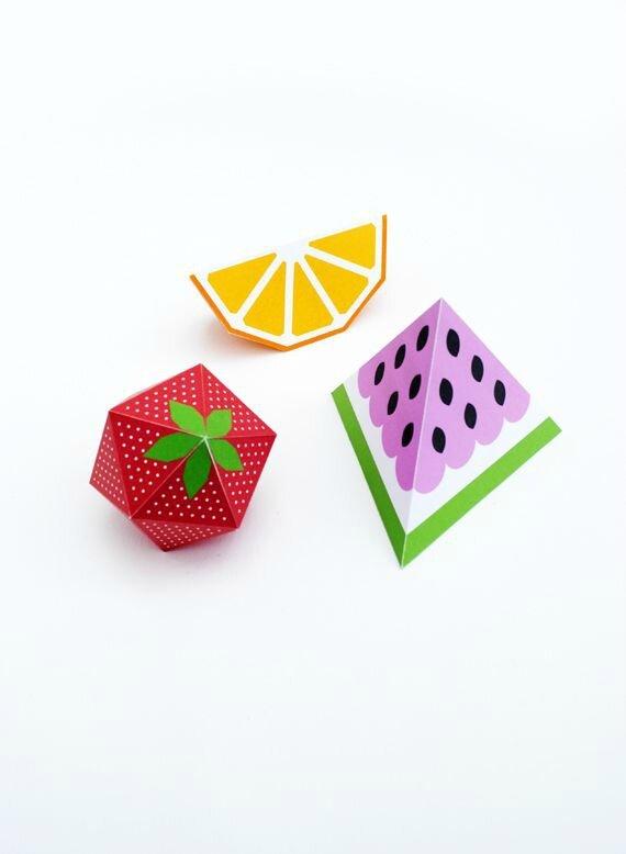 tranche de pastèque en 3D - DIY