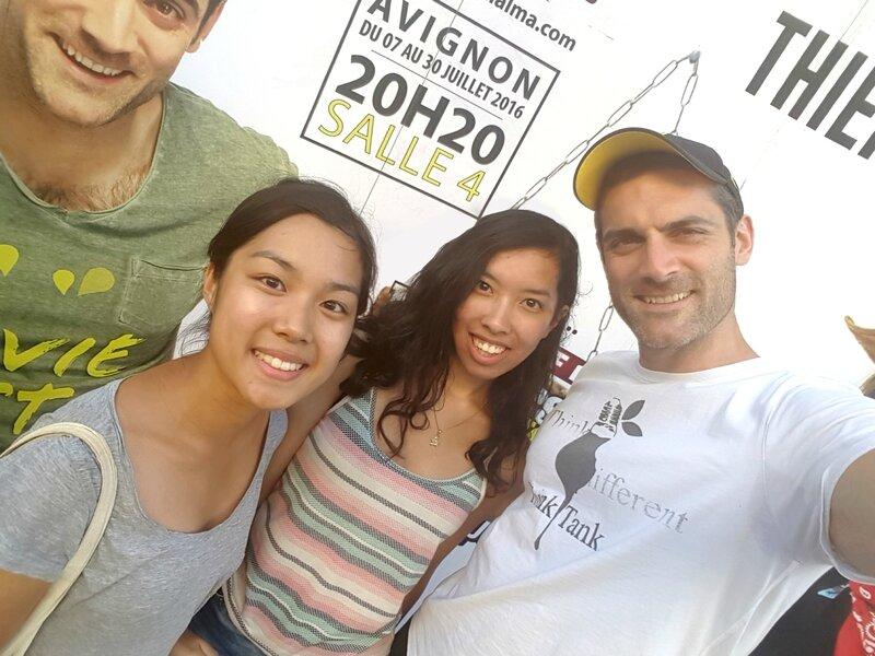 Avignon 25 juillet 2016 - Gil Alma, Audrey et Sylvie