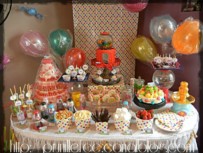 {l'anniversaire de Prunille } CANDYLAND birthday party {sweet table } { gateau 3D }
