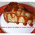 Gâteau au yaourt aux pommes caramel beurre salé